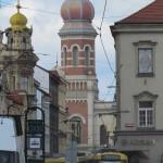 Blick auf die großen Synagoge